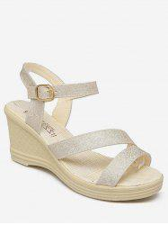 Wedge Heel Ankle Strap Sandals -
