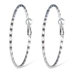 Simple Stylish Silver-plated Spiral Earrings -