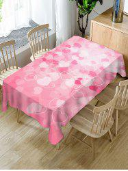 Valentines Day Hearts Print Waterproof Tablecloth -