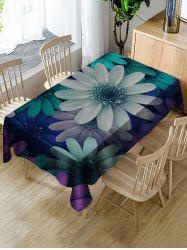 Colorful Flowers Print Fabric Waterproof Tablecloth -