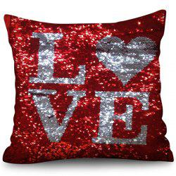 Valentine's Day Sequined Crystal Pillowcase -