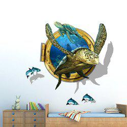 PVC Environmental Protection Turtle 3D Wall Sticker -