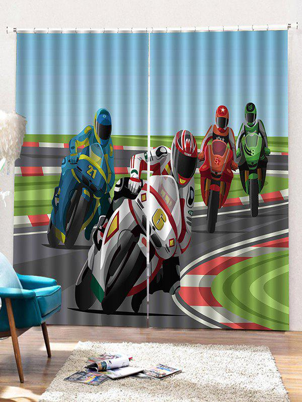 Buy 2PCS Speedy Biker Pattern Window Curtains