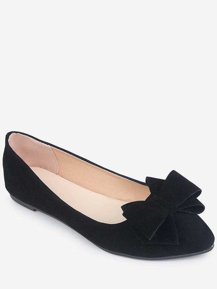 Chic Pointed Toe Low Cut Bowknot Flats