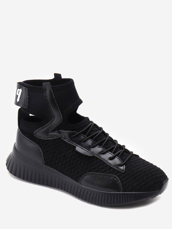 Trendy Ankle Strap Lace Up Athletic Sneakers