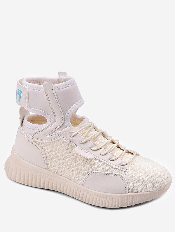 Cheap Ankle Strap Lace Up Athletic Sneakers