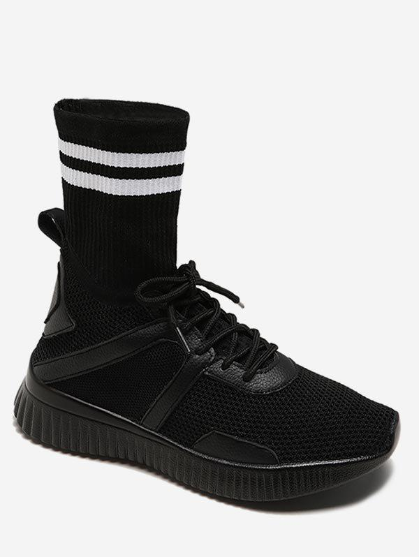Latest Striped Patch Sock Sneakers Boots