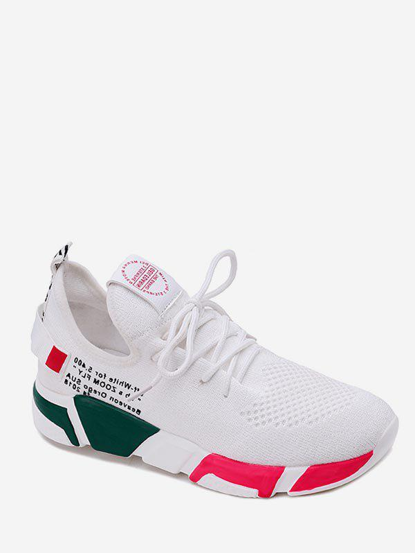 Latest Color Block Letter Design Athletic Sneakers