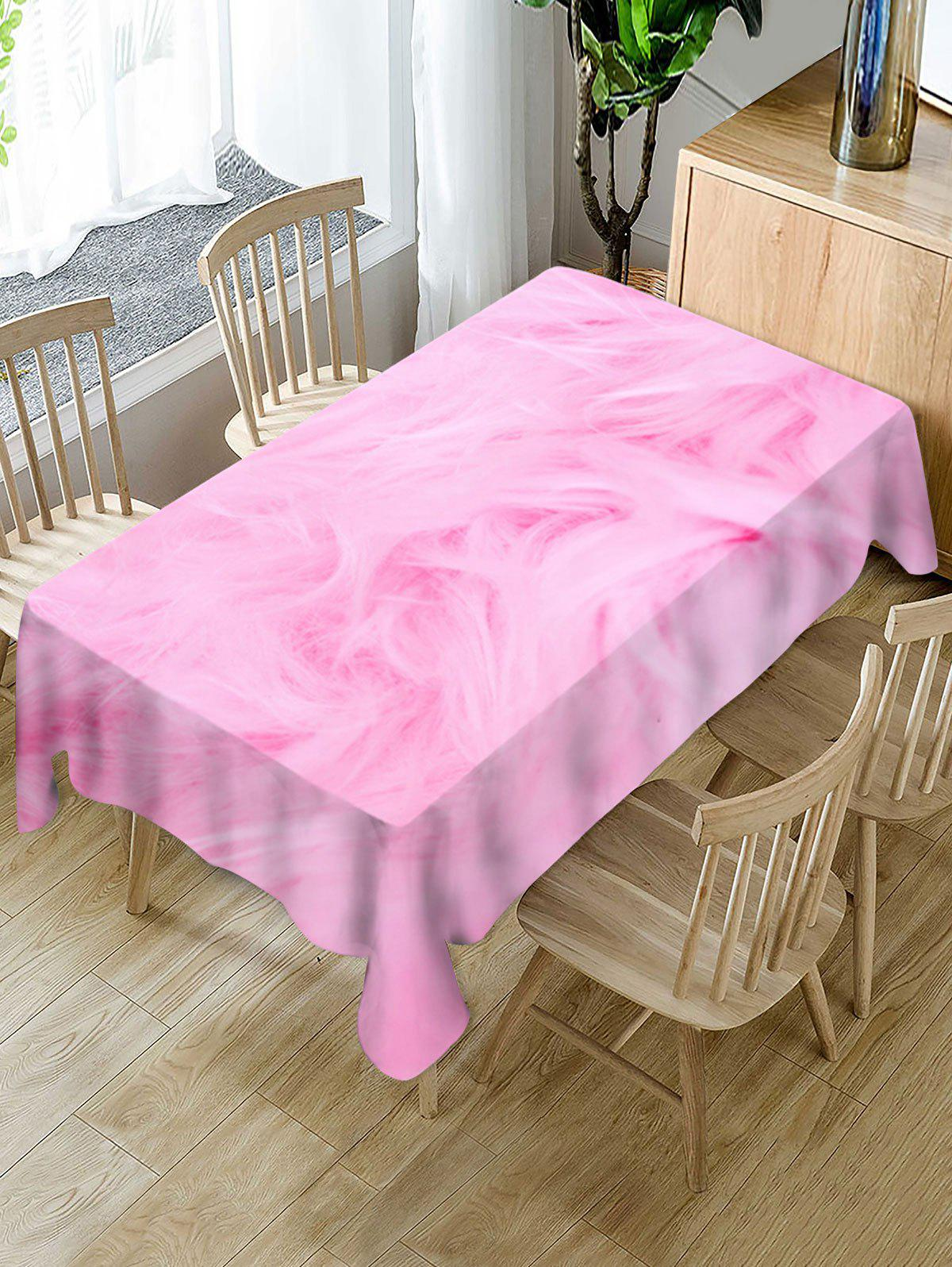 Outfit Fur Print Fabric Waterproof Tablecloth