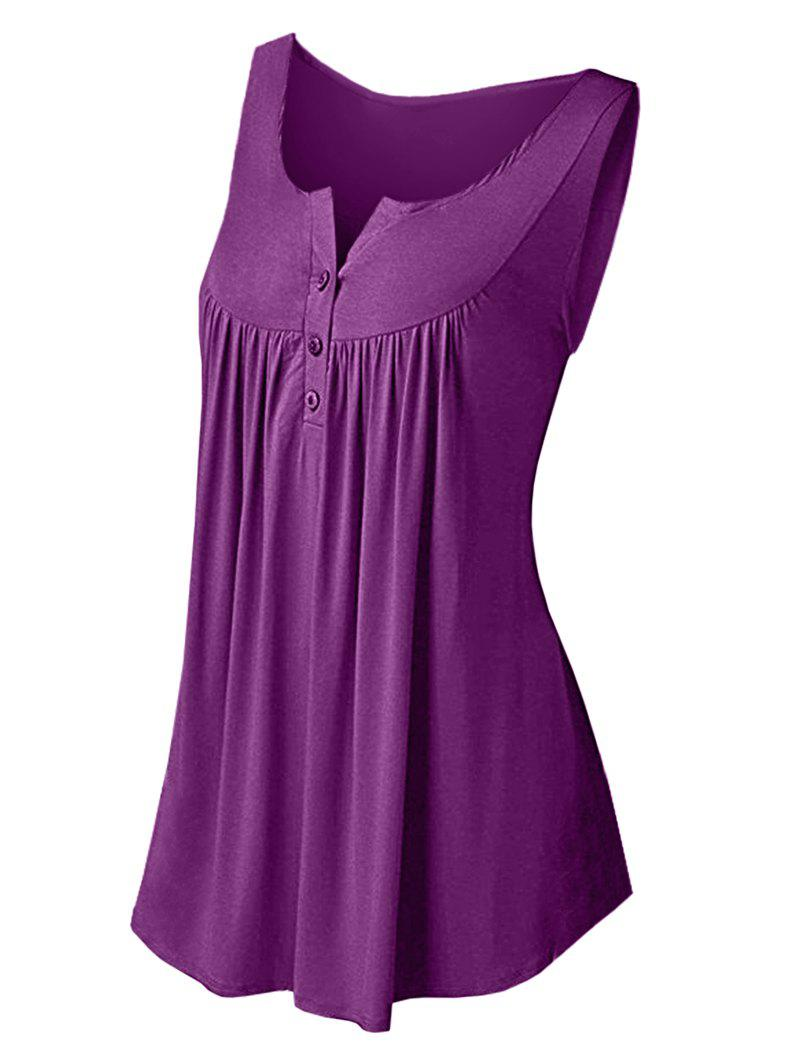 Hot Solid Color Pleated Sleeveless Casual Women's Vest