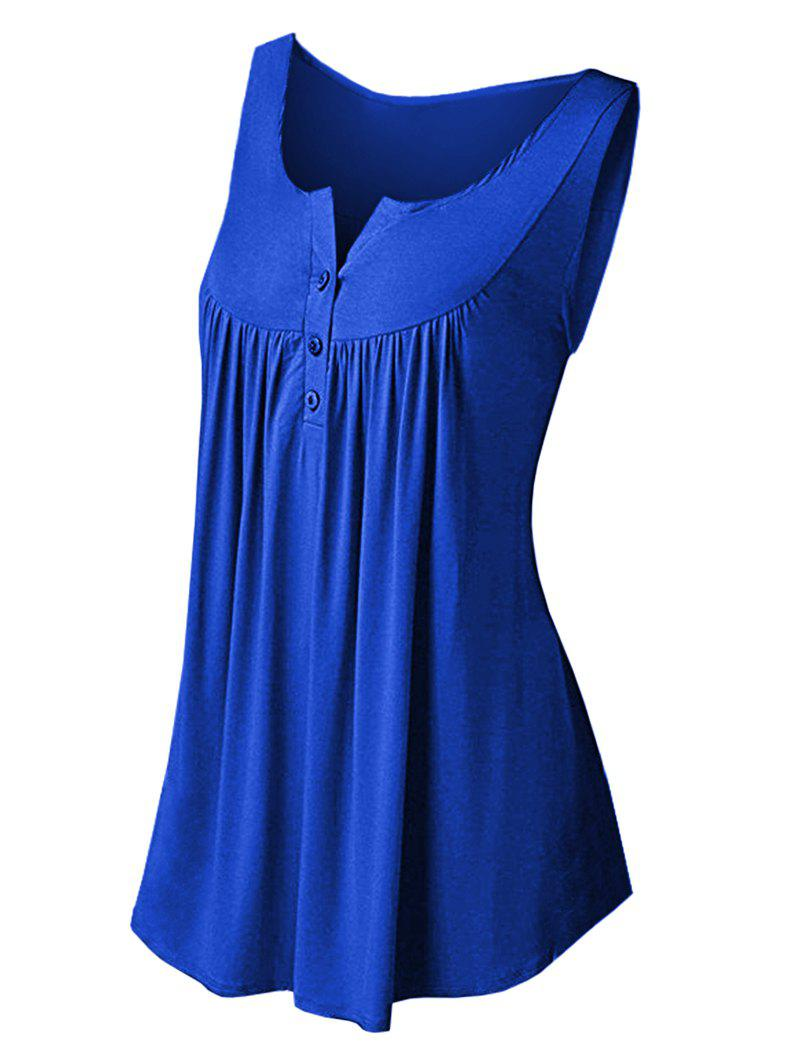 Latest Solid Color Pleated Sleeveless Casual Women's Vest
