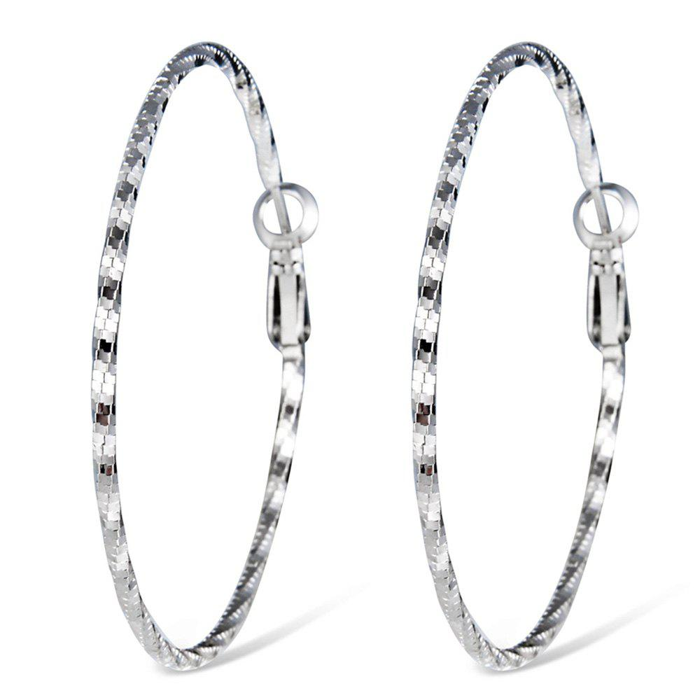Online Simple Stylish Silver-plated Spiral Earrings
