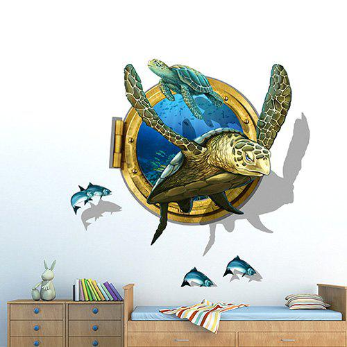 Shops PVC Environmental Protection Turtle 3D Wall Sticker