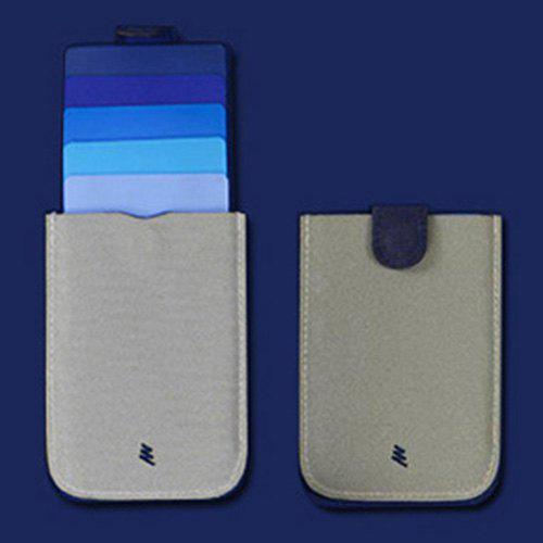 Shops Stack-up Pull-out Card Holder Multifunctional Gradient Color Slim Wallet