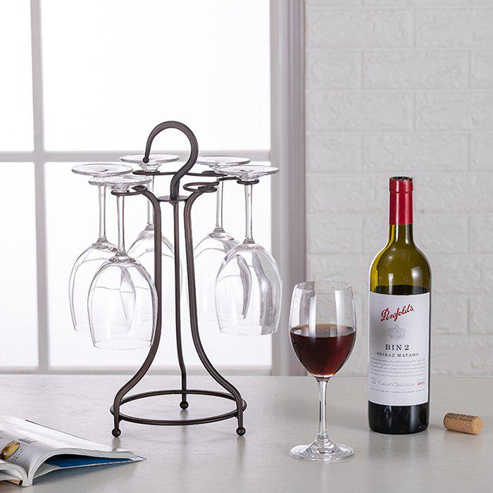 Store Wrought Iron Portable Wine Glass Storage Rack