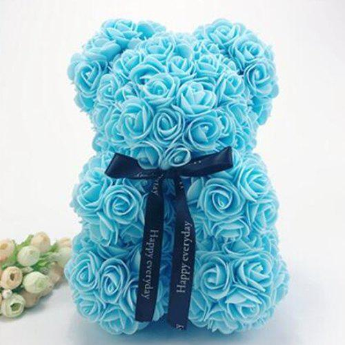 Unique 25cm Christmas Birthday Gift Rose Bear