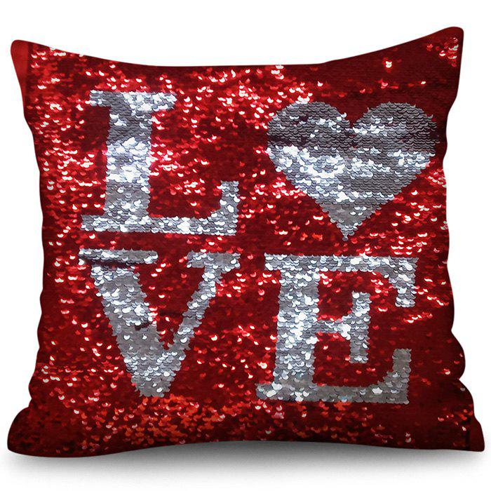 Fashion Valentine's Day Sequined Crystal Pillowcase