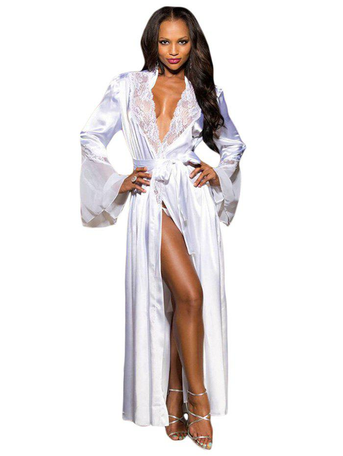 Affordable LC31198 Black Glamour Valentine Long Robe