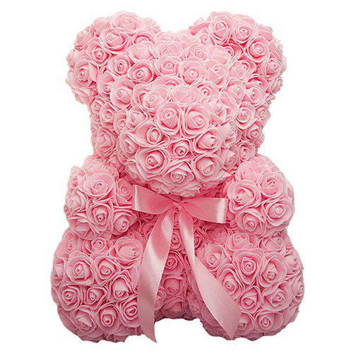 Unique Creative Bubble PE Flower Rose Bear