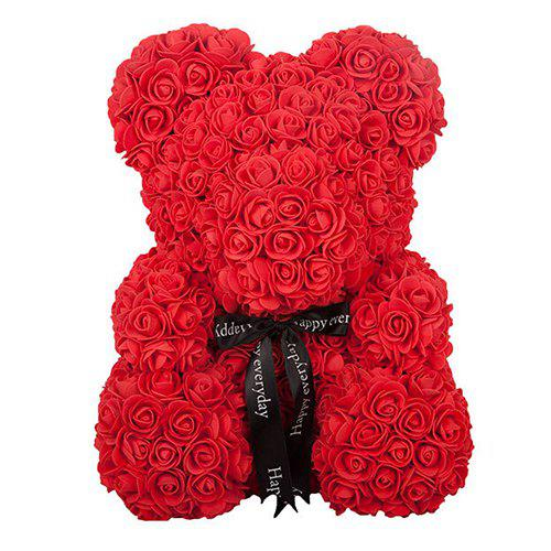 Creative Bubble PE Fleur Rose Bear Rouge