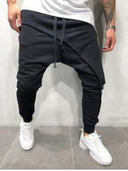 Pantalon de Jogging Hip Hop à Cordon -