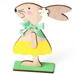 JM01131 Easter Wooden Nordic Style Home Decoration Rabbit Ornaments -