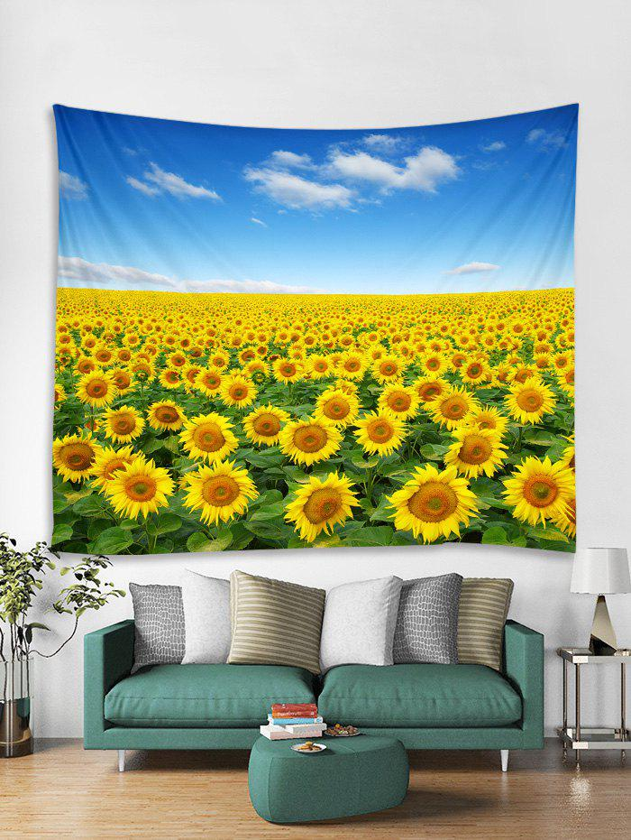 Fine Day Sunflowers Print Tapestry Wall Hanging Art Decoration