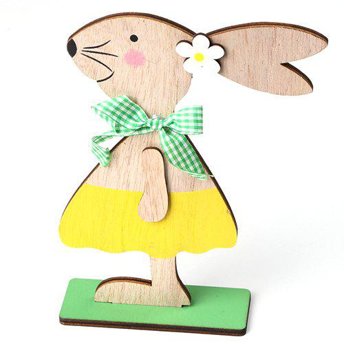 Fancy JM01131 Easter Wooden Nordic Style Home Decoration Rabbit Ornaments