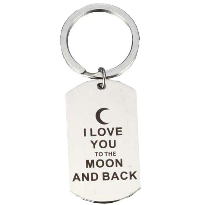 Shop G2719 I LOVE YOU TO THE MOON AND BACK Keychain