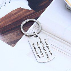 Stainless Steel Polished Keychain -