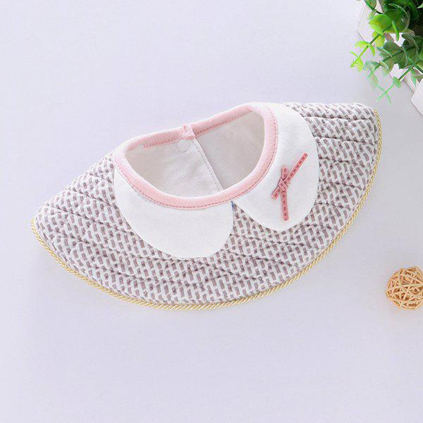 New 08215 False Collar Cotton 360 Degree Round Baby Bib