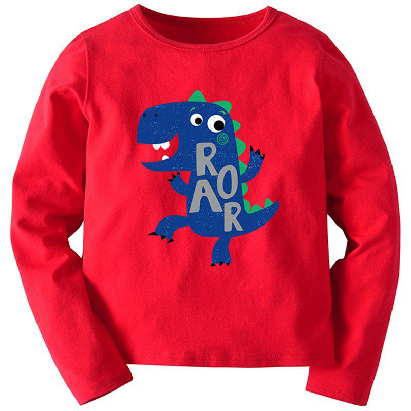 Affordable 19F131E Cartoon Dinosaur Long Sleeve T-shirt