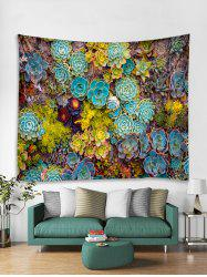 Succulents Print Tapestry Wall Hanging Art Decor -