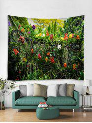 Flowers and Tree Print Tapestry Wall Hanging Art Decoration -