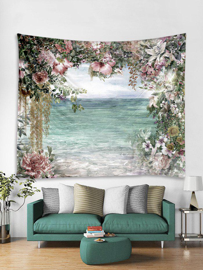 Sale Flower and Sea Print Tapestry Wall Hanging Art Decoration