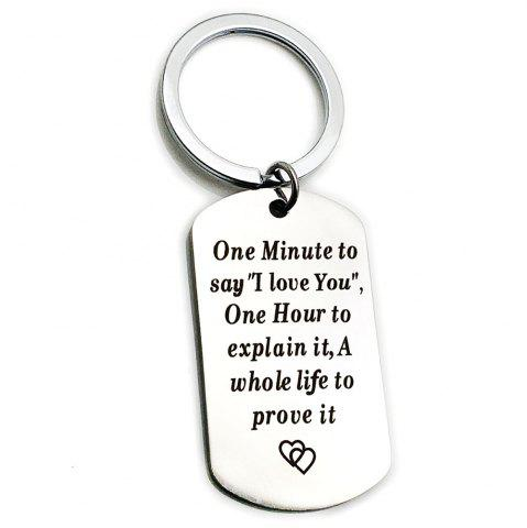 Creative Valentine's Day Letters Key Ring