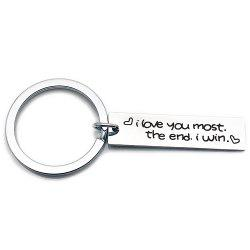 Creative Simple Valentine's Day Letters Key Ring -
