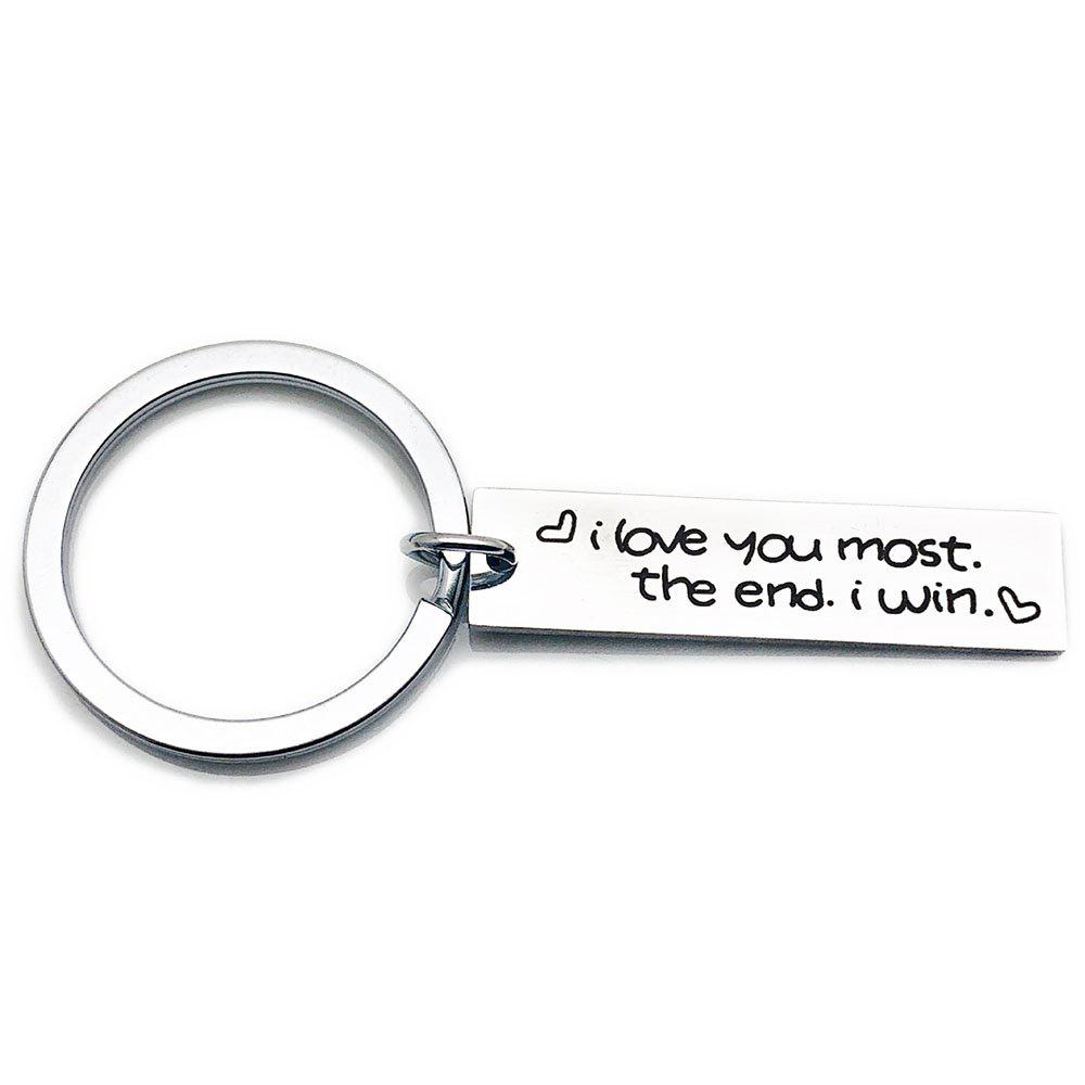 Trendy Creative Simple Valentine's Day Letters Key Ring