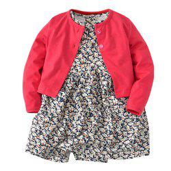 19F003 Baby Climbing Long Sleeve Jacket Two-Piece -