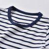 19F133E Children Short-sleeved Striped Cartoon T-shirt -