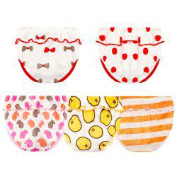 JOYOROY JR002008 Baby Cotton Creative Lace Triangle Underwear 5pcs -