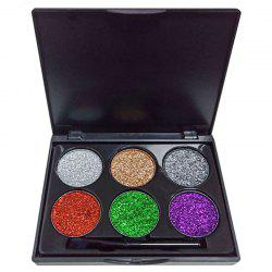 DNM ME0036 6 Color Glitter Sequins Diamond Eyeshadow Powder -