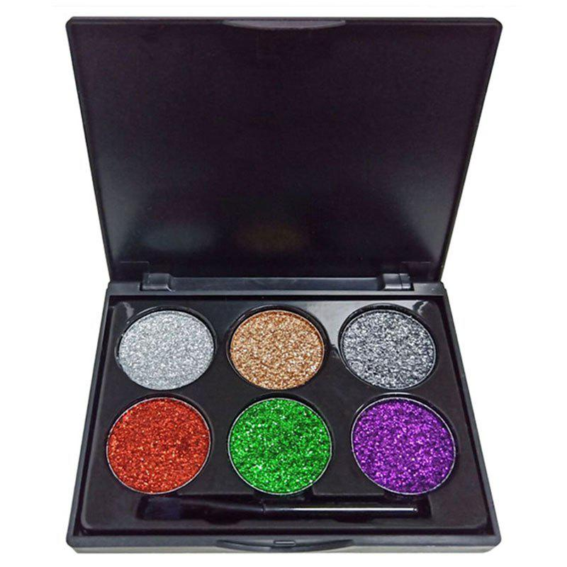 Discount DNM ME0036 6 Color Glitter Sequins Diamond Eyeshadow Powder