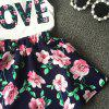 Korean Children's Clothing Girls LOVE Letters Sleeveless Vests Skirt Two-piece -
