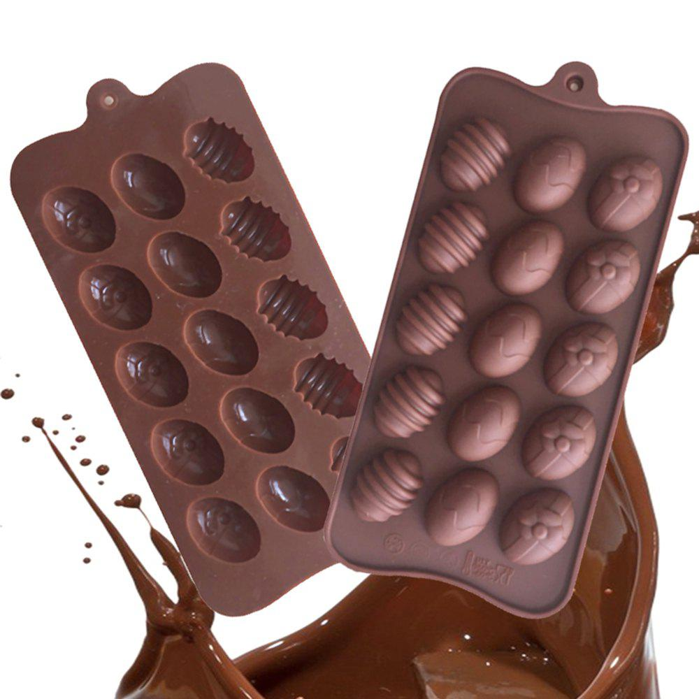 Shops Silicone Easter Egg Shaped Chocolate Mould