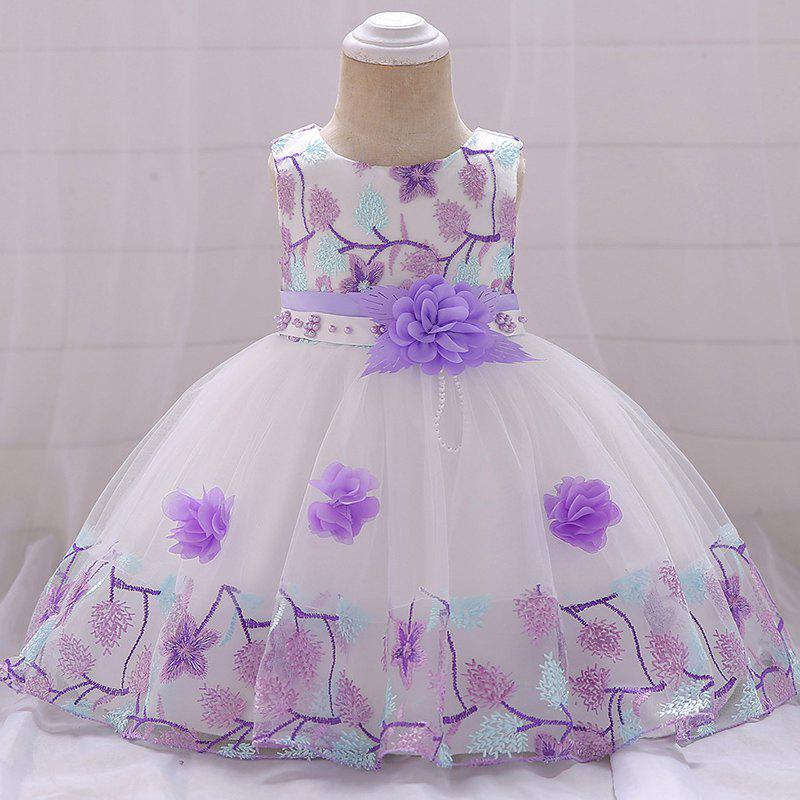 Online Baby Cute Flower Embroidery Princess Dress