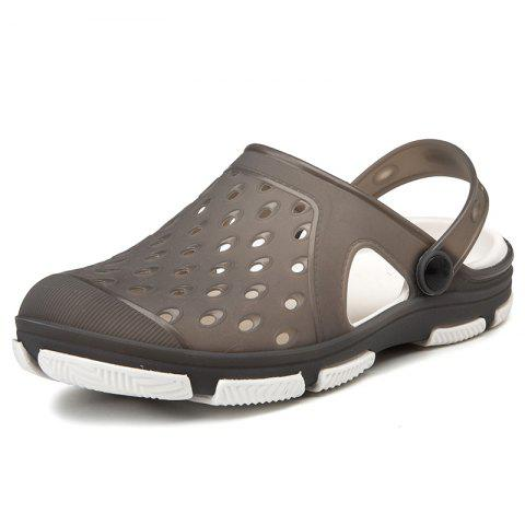Summer Men Jelly Shoes Hollow out Sandals Slippers - GRAY - EU 42