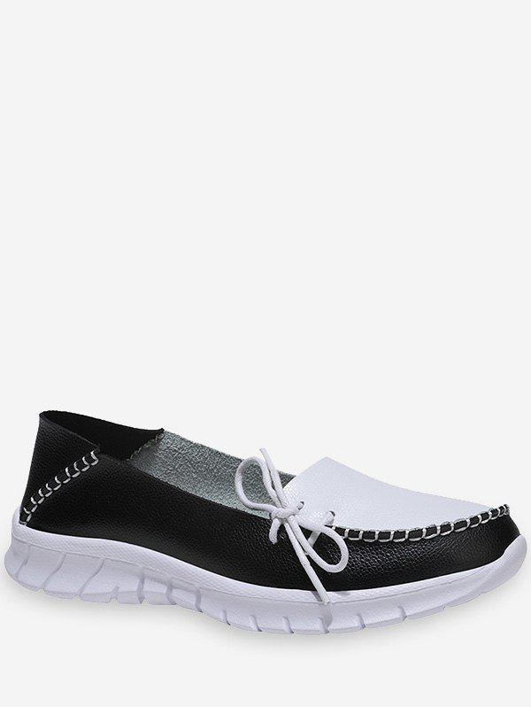 Shops Side Bow Two Tone Loafer Shoes