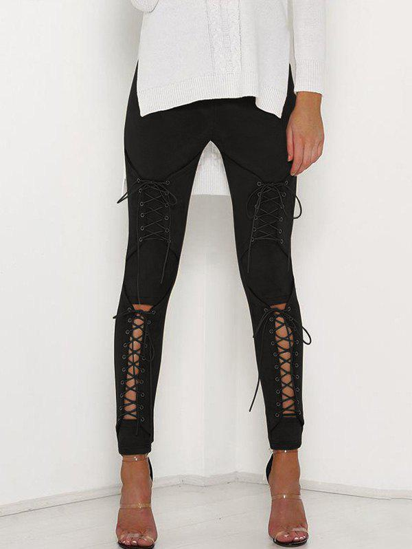 Online Corns Hollowed Out Tights Pencil Trousers