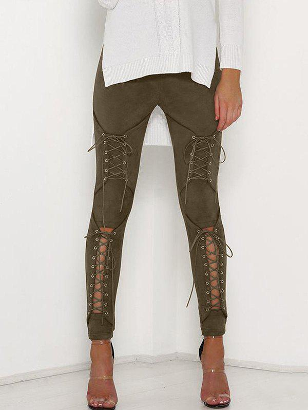 Trendy Corns Hollowed Out Tights Pencil Trousers